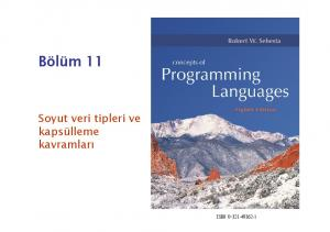 Bölüm 11. Soyut veri tipleri ve kapsülleme kavramları ISBN