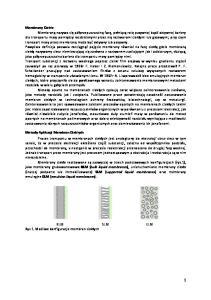 BLM SLM ELM Rys 1. Możliwe konfiguracje membran ciekłych