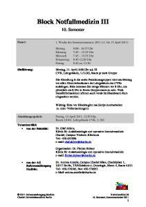 Block Notfallmedizin III