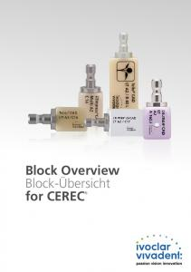 Block Overview Block-Übersicht for CEREC