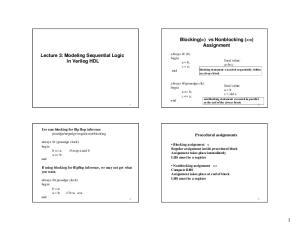 Blocking(=) vs Nonblocking (