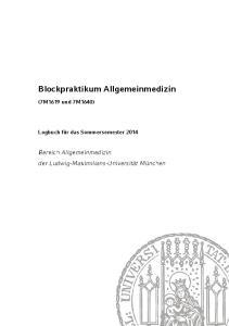 Blockpraktikum Allgemeinmedizin