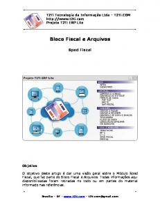 Bloco Fiscal e Arquivos