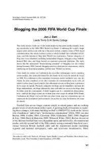 Blogging the 2006 FIFA World Cup Finals