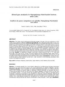 Blood gas analysis in Mangalarga Marchador horses with colic