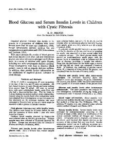 Blood Glucose and Serum Insulin Levels in Children