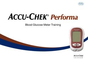 Blood Glucose Meter Training