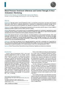Blood Pressure Treatment Adherence and Control Through 24-Hour Ambulatory Monitoring