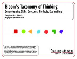 Bloom s Taxonomy of Thinking