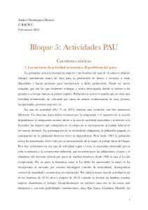 Bloque 5: Actividades PAU