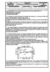 BLOQUE A MATERIALES. DIAGRAMAS DE EQUILIBRIO