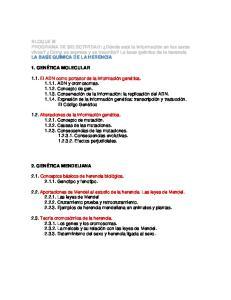 BLOQUE III PROGRAMA DE SELECTIVIDAD: