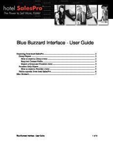 Blue Buzzard Interface - User Guide
