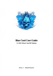Blue Card User Guide. For 3DS, 2DS and new 3DS Systems