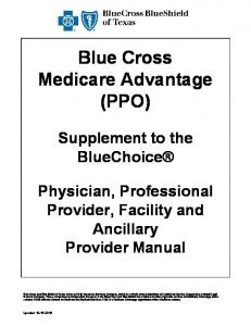 Blue Cross Medicare Advantage (PPO)