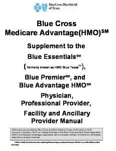 Blue Cross Medicare Advantage(HMO) SM