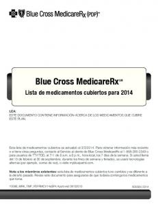 Blue Cross MedicareRx SM