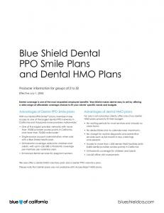 Blue Shield Dental PPO Smile Plans and Dental HMO Plans