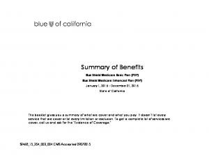 Blue Shield Medicare Basic Plan (PDP) Blue Shield Medicare Enhanced Plan (PDP)