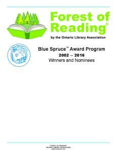Blue Spruce Award Program