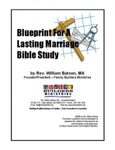 Blueprint For A Lasting Marriage Bible Study
