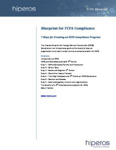 Blueprint for FCPA Compliance