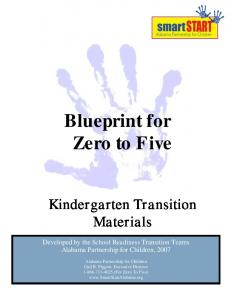 Blueprint for Zero to Five