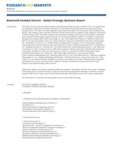 Bluetooth Enabled Devices - Global Strategic Business Report