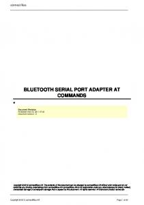 BLUETOOTH SERIAL PORT ADAPTER AT COMMANDS
