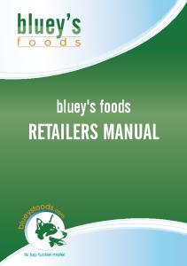 bluey's foods RETAILERS MANUAL