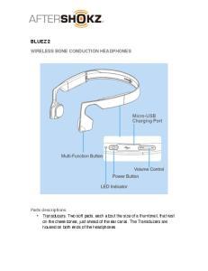 BLUEZ 2 WIRELESS BONE CONDUCTION HEADPHONES