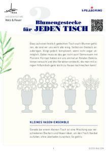 Blumengestecke für JEDEN TISCH