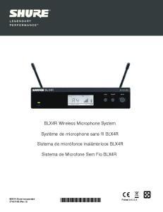 BLX4R Wireless Microphone System
