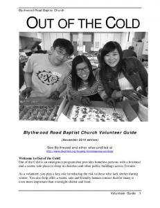Blythwood Road Baptist Church Volunteer Guide