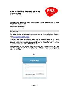 BMAT Vericast Upload Service User Guide