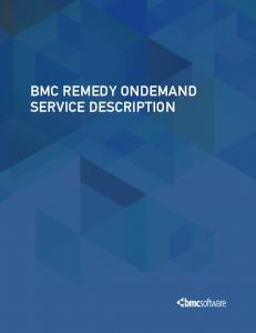 BMC REMEDY ONDEMAND SERVICE DESCRIPTION