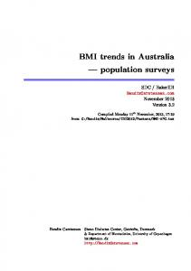 BMI trends in Australia population surveys