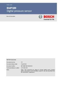 BMP180 Digital pressure sensor