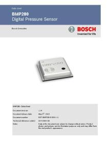 BMP280 Digital Pressure Sensor