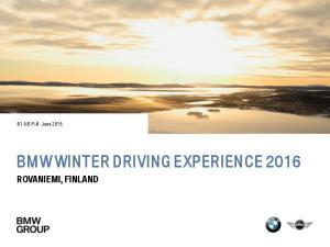 BMW WINTER DRIVING EXPERIENCE 2016 ROVANIEMI, FINLAND