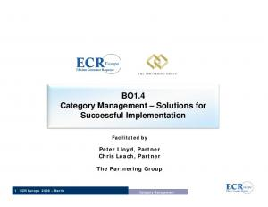 BO1.4 Category Management Solutions for Successful Implementation
