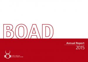 BOAD Annual Report WEST AFRICAN DEVELOPMENT BANK