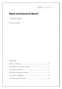 Board and Executive Search