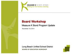 BOARD OF EDUCATION WORKSHOP