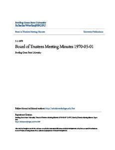 Board of Trustees Meeting Minutes