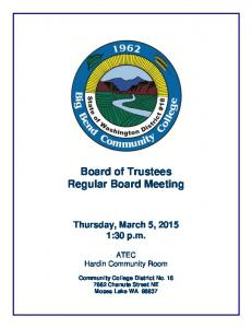Board of Trustees Regular Board Meeting