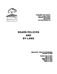 BOARD POLICIES AND BY-LAWS