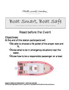 Boat Smart, Boat Safe