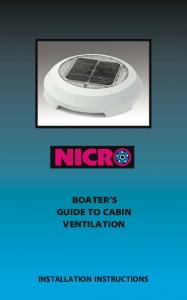 BOATER S GUIDE TO CABIN VENTILATION