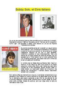 Bobby Solo, el Elvis italiano